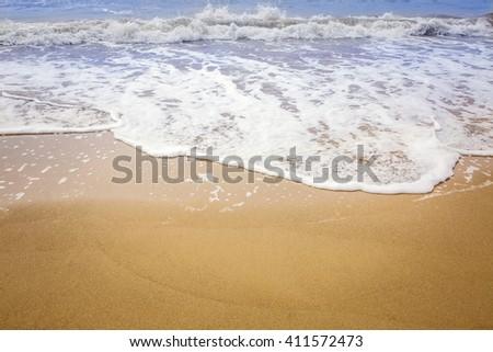 Beautiful summer white beach. Odessa - stock photo