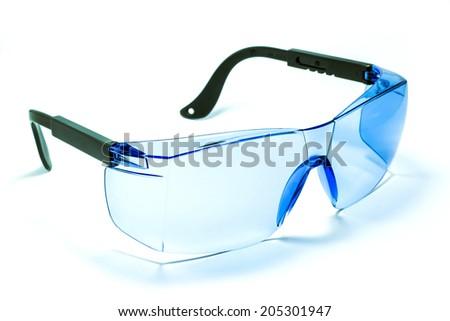 Beautiful sunglasses isolated on white background - stock photo