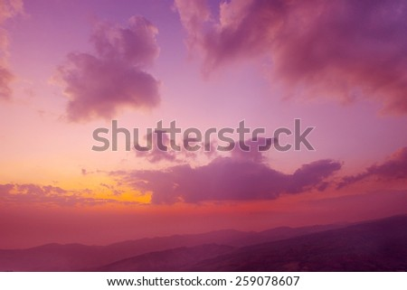 Beautiful sunrise sky, Beautiful sunrise cloud  - stock photo