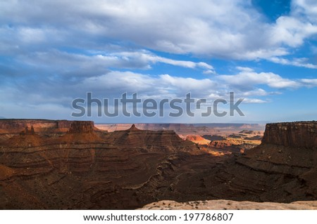 Beautiful Sunset in Canyonlands National Park Utah - stock photo