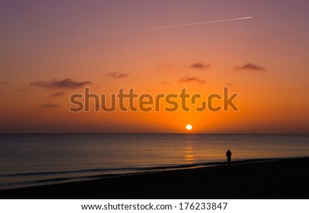 Beautiful sunset on Cape Cod, MA - stock photo