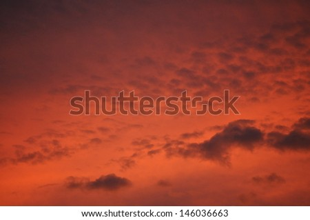 Beautiful sunset. Sky on the sunset. Abstract, background. - stock photo
