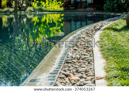 beautiful swimming pool  - stock photo