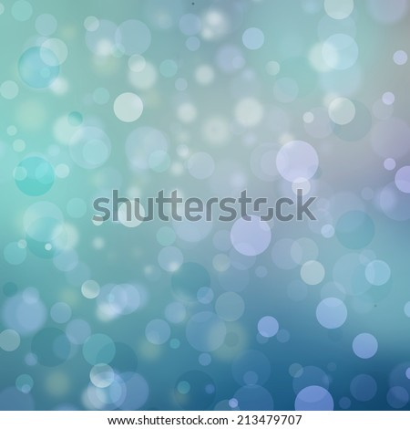 Beautiful teal blue bokeh background with shimmering colors and white lights, festive party background, magical glitter background sparkles  - stock photo