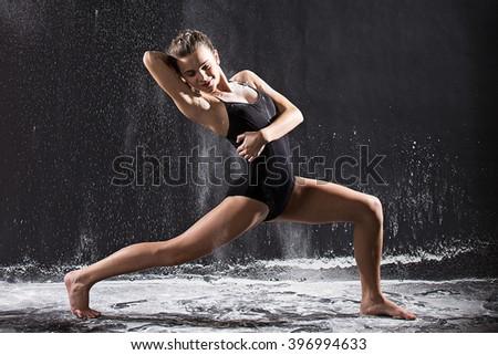 Beautiful teenage dancer - stock photo