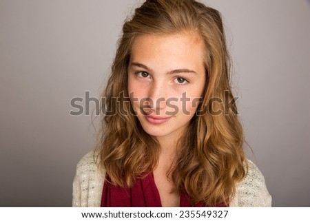 Beautiful teenage girl - stock photo