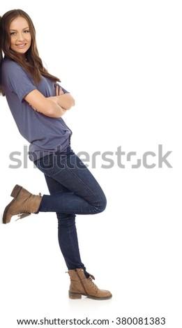 Beautiful teenager - stock photo