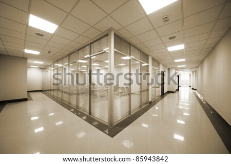 beautiful training room in a modern office - stock photo