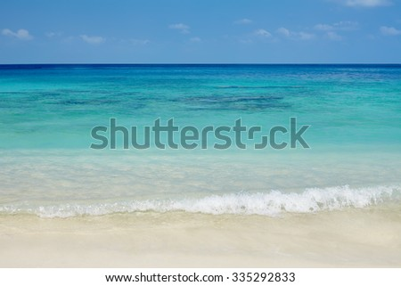 Beautiful tropical beach and sea - stock photo