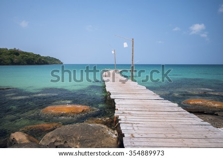 Beautiful tropical beach in Koh Kood ,Trat Province , Thailand - stock photo