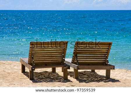 Beautiful tropical beach in Thailand - stock photo