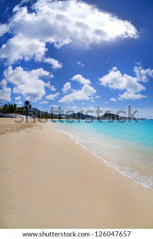 Beautiful, Tropical Caribbean Beach - stock photo