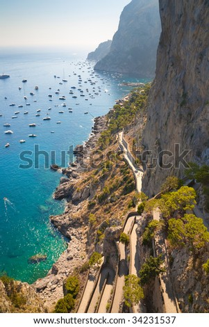 Beautiful tropical coast. Wide angle view. - stock photo