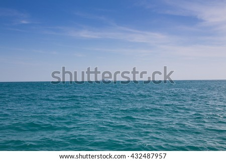 Beautiful tropical island and sea in thailand  - stock photo