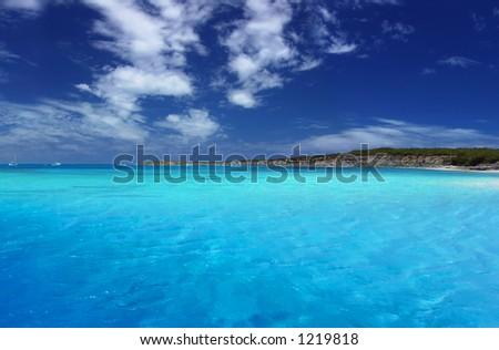 Beautiful Tropical Lagoon - stock photo
