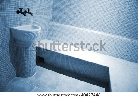 Beautiful turkish bath in new modern hotel - stock photo