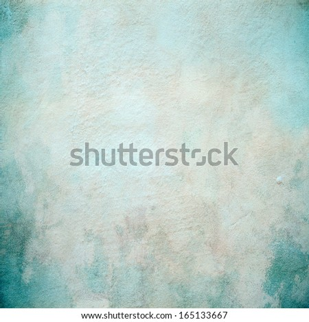 Beautiful turquoise concrete wall texture - stock photo