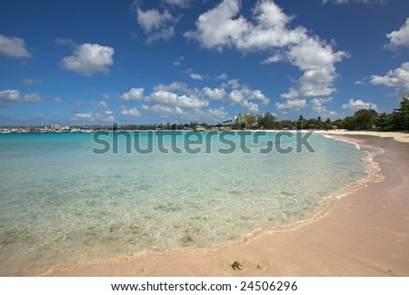 Beautiful turquoise sea in the Caribbean Islands - stock photo