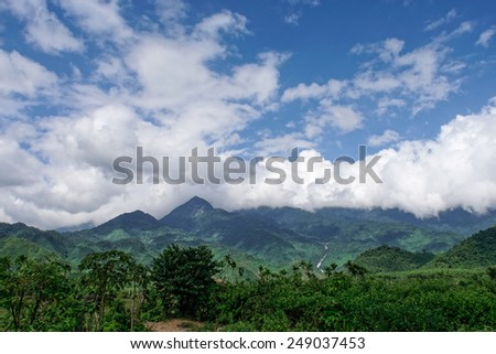 Beautiful valley close to Danang, Vietnam - stock photo