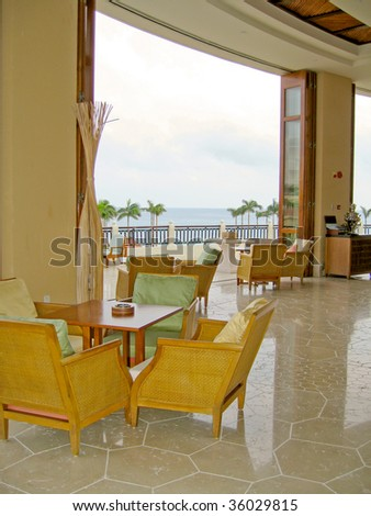 beautiful view from lobby - stock photo