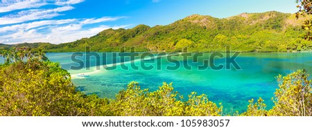Beautiful view of a tropical island Snake. Philippines - stock photo