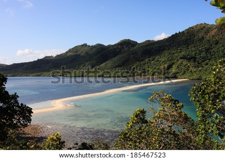 Beautiful view of a tropical Snake island, El Nido, Palawan, Philippines  - stock photo
