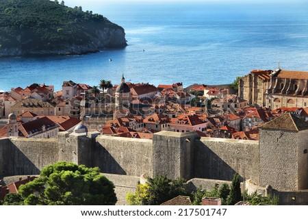 Beautiful view of Dubrovnik, Dalmatia, Croatia - stock photo