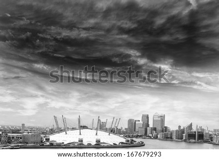 Beautiful view of London's skyline. - stock photo