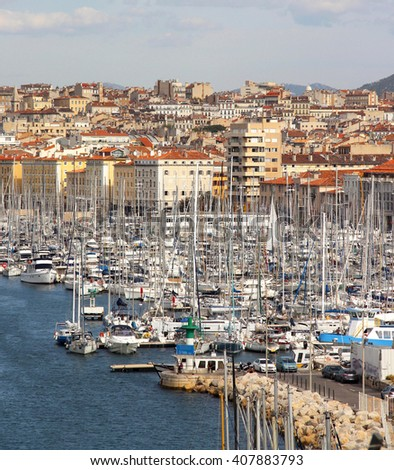 Beautiful view of Marseille, Provence, France - stock photo
