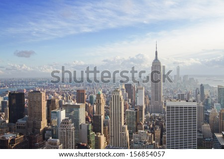 beautiful view of New York city - stock photo