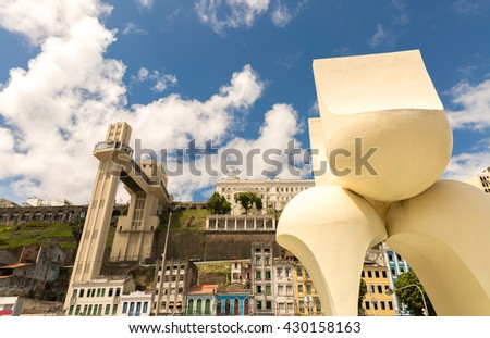Beautiful view of Salvador city in Bahia, Brazil - stock photo