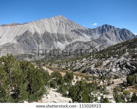 Beautiful view of Sierra mountains, California - stock photo