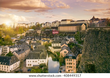Beautiful view of the  Gran-duchy of Luxembourg - stock photo