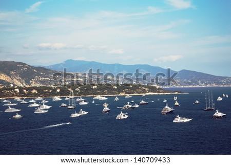 Beautiful view on Monaco - stock photo