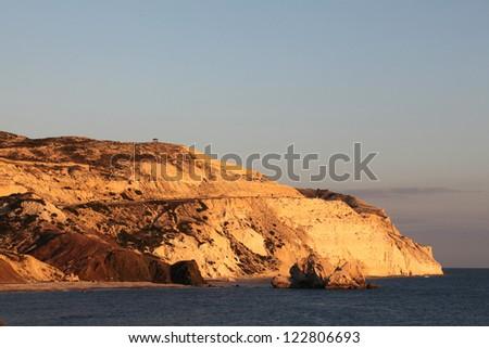 Beautiful views of the Mediterranean coast in  Cyprus - stock photo