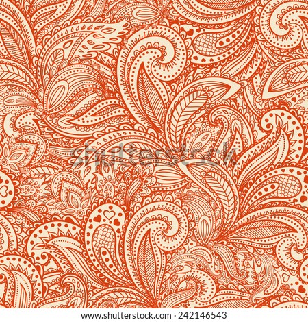 Beautiful vintage floral seamless for your business - stock photo