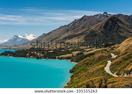Beautiful Wakatiup Lake, New Zealand - stock photo