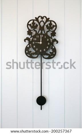 beautiful Wall Clock - stock photo