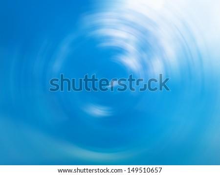 beautiful water drop surface reflect blue sky - stock photo