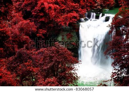 Beautiful Waterfall in Thailand - stock photo
