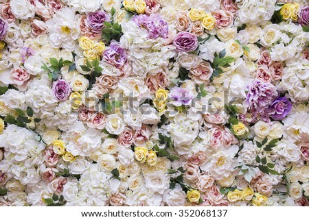 Beautiful wedding decorations - stock photo