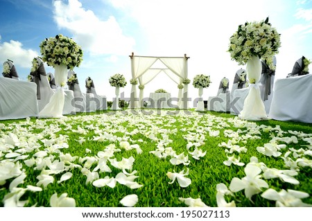 Beautiful wedding set up - stock photo