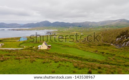 Beautiful West Cork on a Dull Day - stock photo