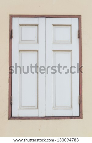 Beautiful window - stock photo