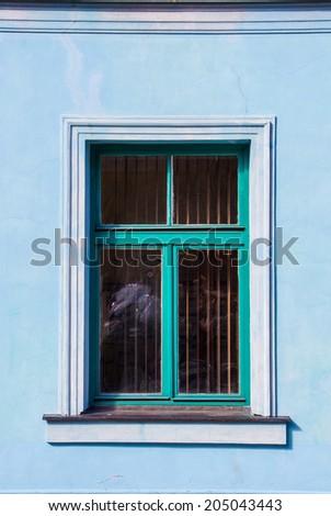 Beautiful window in Old Town, Riga - stock photo