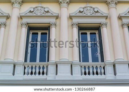 Beautiful window style from thailand - stock photo