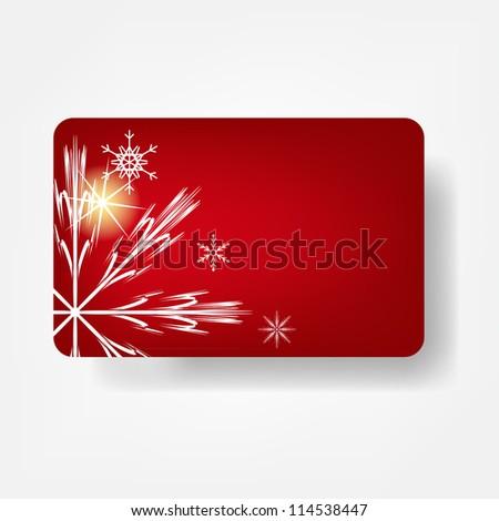 Beautiful winter gift card, Raster version illustration. - stock photo