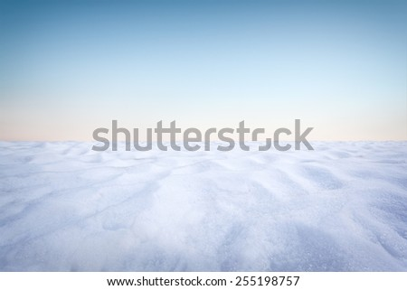Beautiful winter landscape background with blue sky - stock photo