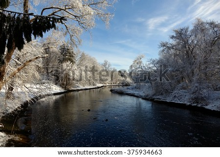 Beautiful Winter Wonderland - stock photo