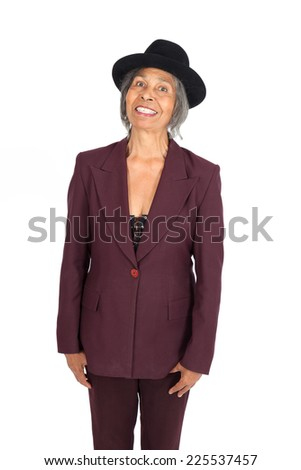 Beautiful woman doing different expressions in different sets of clothes: portrait - stock photo